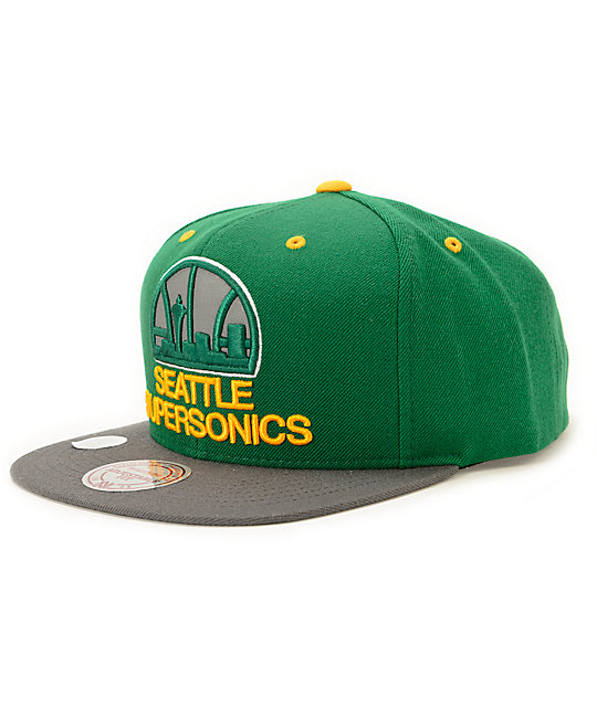 NBA Mitchell and Ness Sonics XL Reflective Snapback Hat