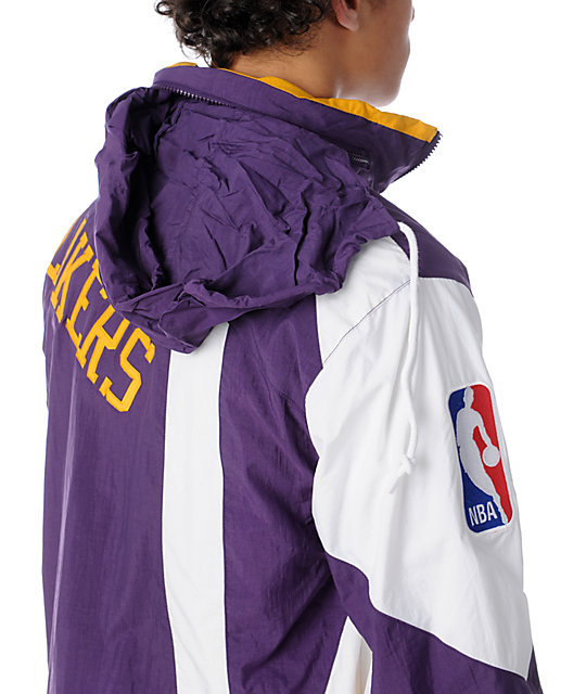NBA Mitchell and Ness Vintage LA Lakers Windbreaker