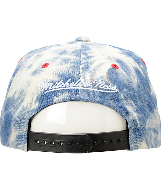 NFL Mitchell and Ness 49ers Acid Wash Blue Snapback Hat
