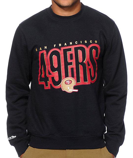 Mitchell and Ness 49ers Retro Blur Crew Neck Sweatshirt