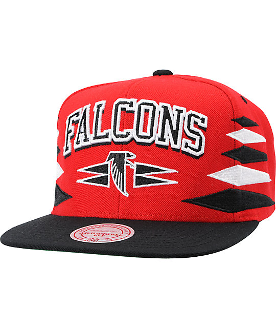 Mens Atlanta Falcons Mitchell & Ness Red Retro Blur Crew Sweatshirt