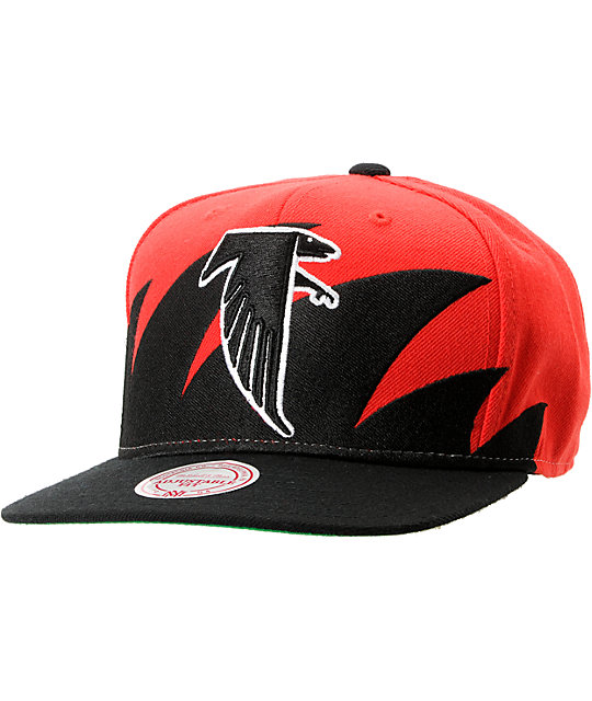 NFL Mitchell and Ness Atlanta Falcons Sharktooth Snapback Hat at ...