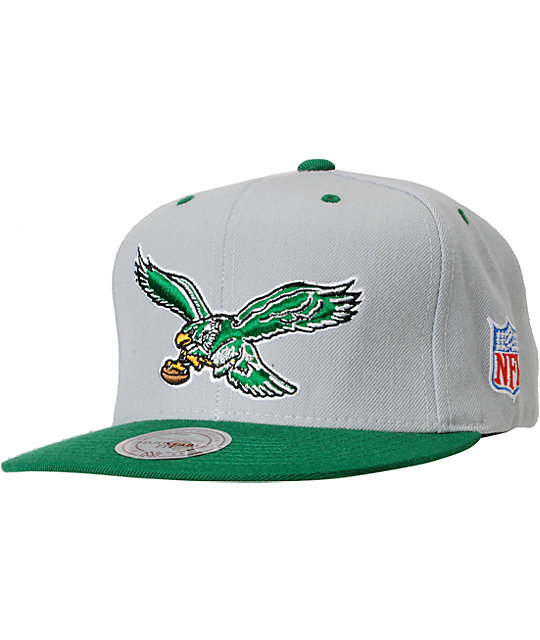 NFL Mitchell and Ness Eagles Basic 2Tone Snapback Hat