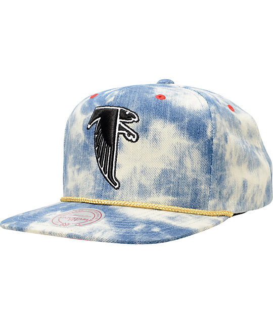NFL Mitchell and Ness Falcons Acid Wash Blue Snapback Hat