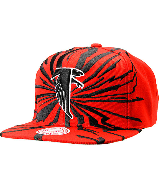 NFL Mitchell and Ness Falcons Earthquake Snapback Hat