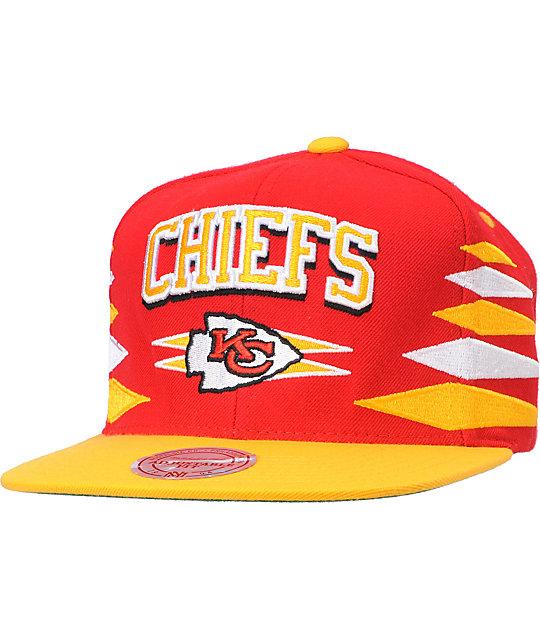NFL Mitchell and Ness Kansas City Chiefs Diamond Snapback Hat