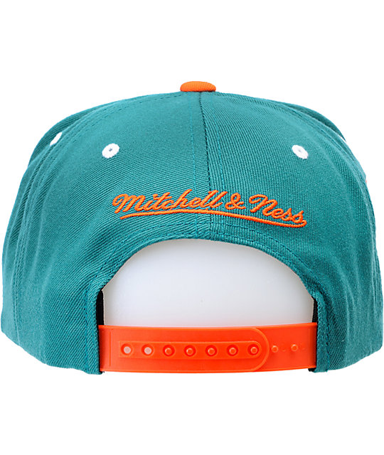NFL Mitchell and Ness Miami Dolphins Script Snapback Hat