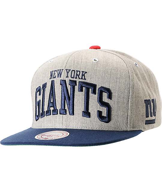 NFL Mitchell and Ness New York Giants 2Tone Arch Snapback Hat