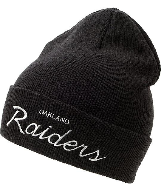 NFL Mitchell and Ness Oakland Raiders Black Fold Beanie