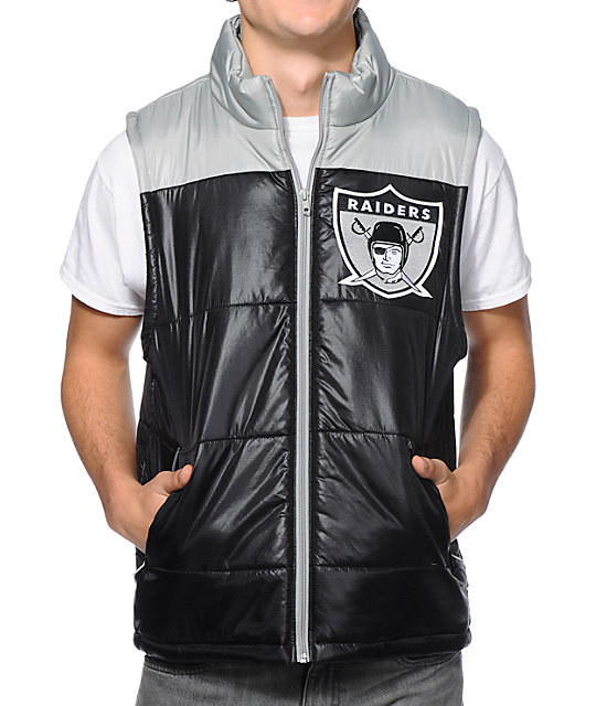 NFL Mitchell and Ness Oakland Raiders Black Vest