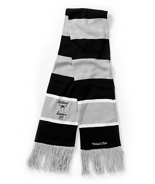 NFL Mitchell and Ness Oakland Raiders Knit Scarf