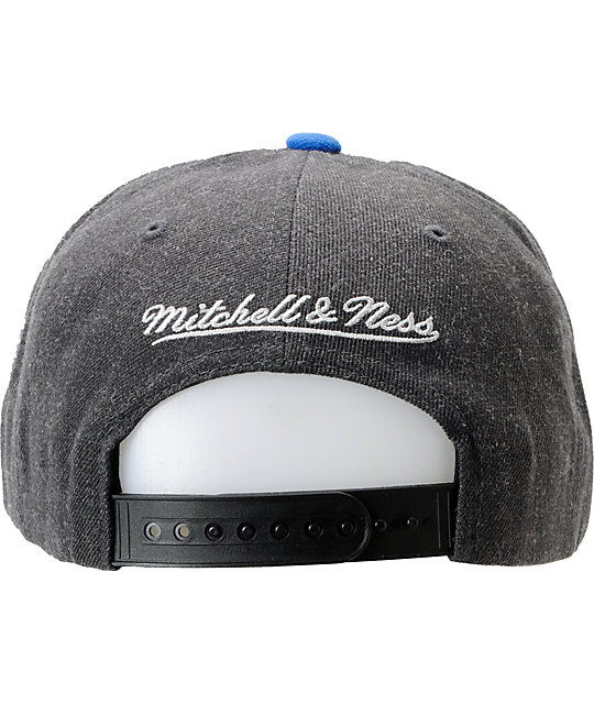 NFL Mitchell and Ness Patriots Arch Logo Grey Snapback Hat