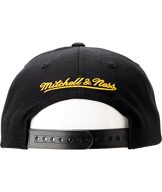 NFL Mitchell and Ness Pittsburgh Steelers Blockers Black Snapback Hat