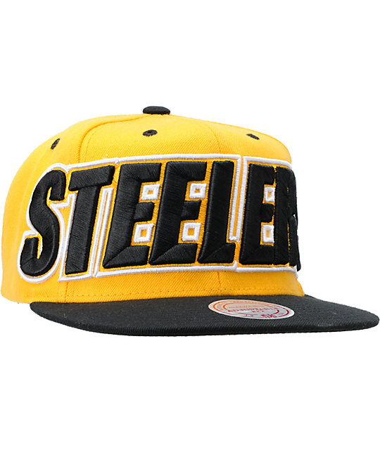 NFL Mitchell and Ness Pittsburgh Steelers XL Snapback Hat