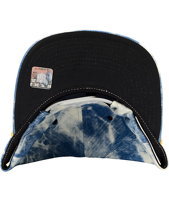 NFL Mitchell and Ness Raiders Acid Wash Blue Snapback Hat