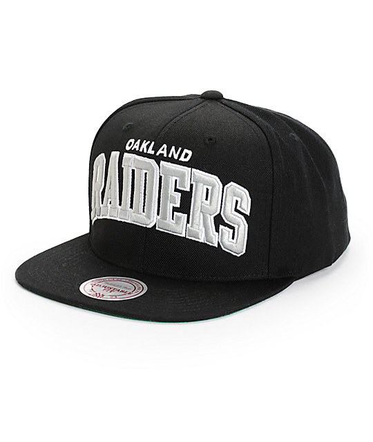NFL Mitchell and Ness Raiders Arch Snapback Hat