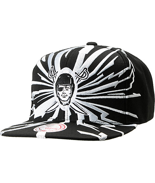 NFL Mitchell and Ness Raiders Earthquake Snapback Hat