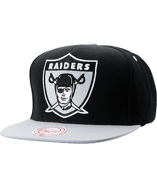NFL Mitchell and Ness Raiders Shield BOTB Black Snapback Hat