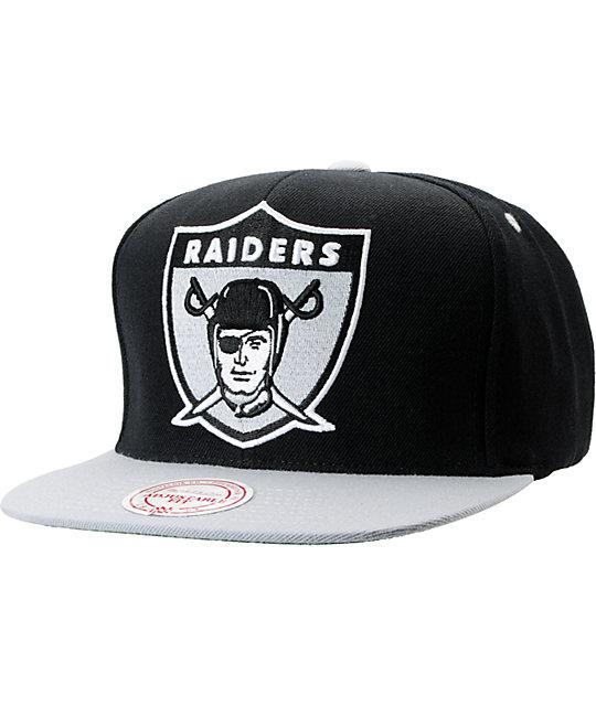 NFL Mitchell and Ness Raiders Shield BOTB Black Snapback Hat