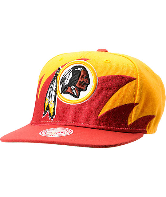 NFL Mitchell and Ness Redskins Sharktooth Snapback Hat