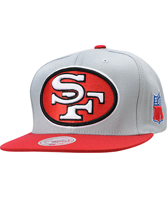 NFL Mitchell and Ness San Francisco 49ERS XL Snapback Hat