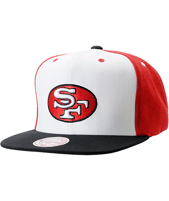 NFL Mitchell and Ness San Francisco 49ers Multi-Tone Snapback Hat