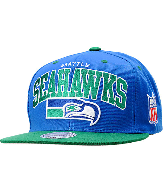 NFL Mitchell and Ness Seattle Seahawks Snapback Hat