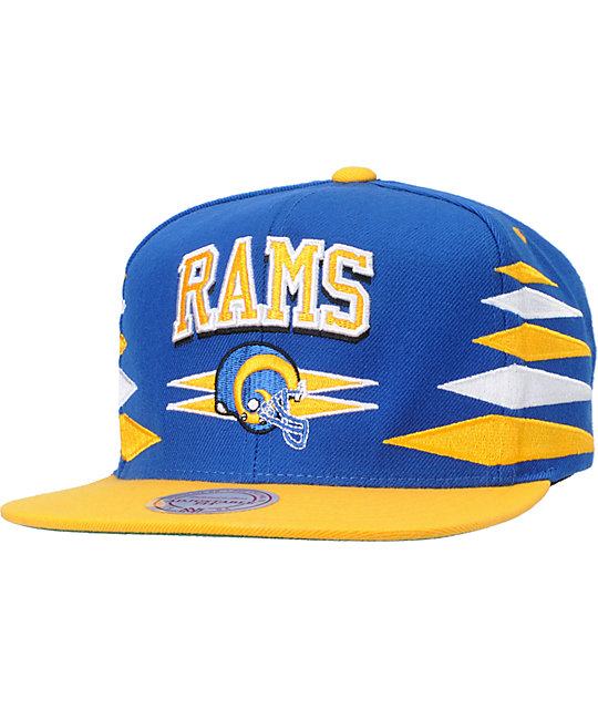 NFL Mitchell and Ness St. Louis Rams Diamond Snapback Hat