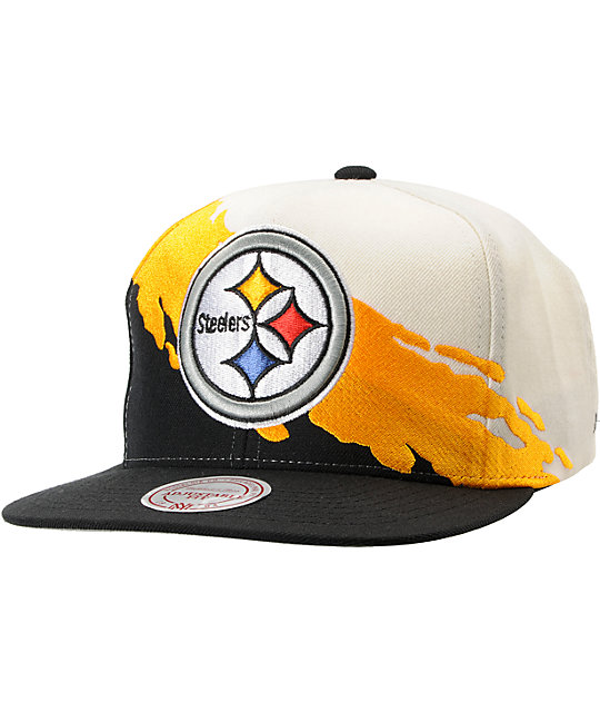 NFL Mitchell and Ness Steelers Paintbrush Snapback Hat