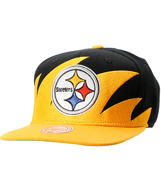 NFL Mitchell and Ness Steelers Sharktooth Snapback Hat