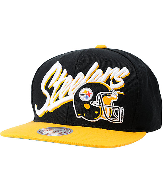 NFL Mitchell and Ness Steelers Vice Snapback Hat