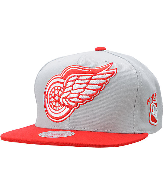 NHL Mitchell and Ness Detroit Red Wings XL Snapback Hat