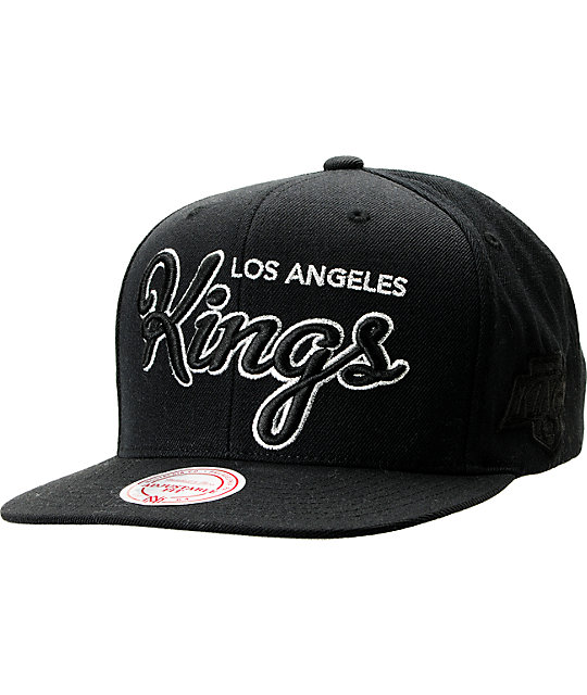 NHL Mitchell and Ness LA Kings Blacked Out Snapback Hat
