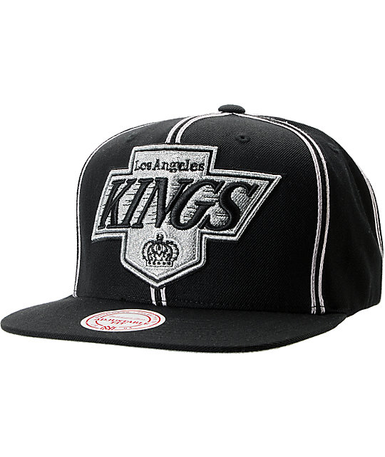 NHL Mitchell and Ness Los Angeles Kings Double Pinstripe Snapback Hat