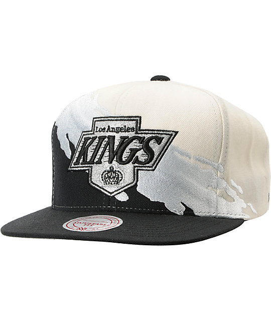 NHL Mitchell and Ness Los Angeles Kings Paintbrush Snapback Hat