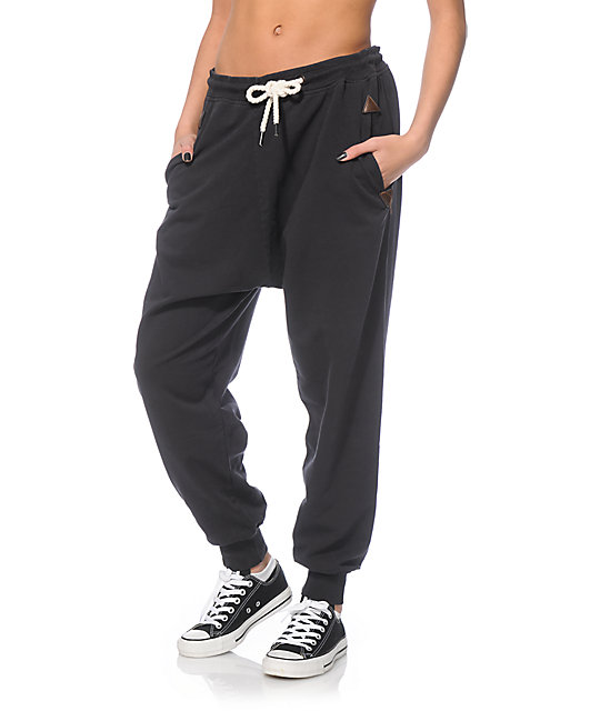Simple Fox Black Whiplash Womens Joggers  Fox  FreestyleXtreme