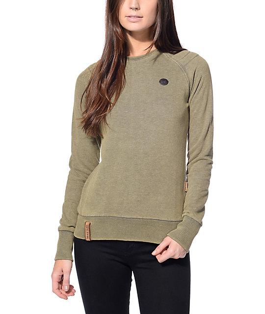 Naketano Blumchen Olive Crew Neck Sweatshirt