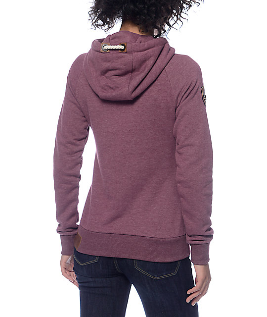 naketano brazzo vi bordeaux zip up hoodie zumiez. Black Bedroom Furniture Sets. Home Design Ideas