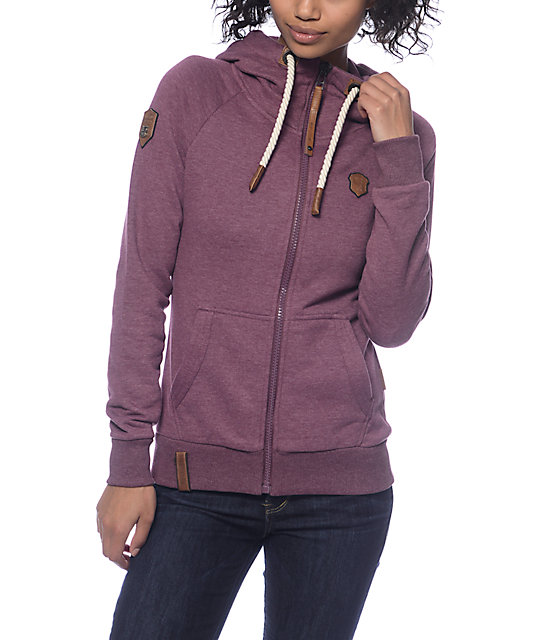 Naketano Brazzo VI Bordeaux Zip Up Hoodie