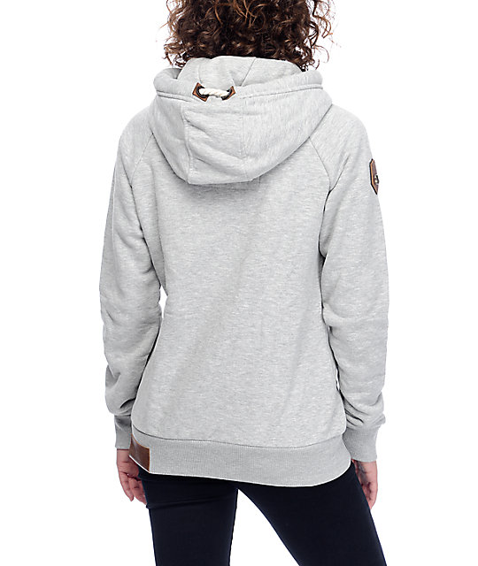 naketano brazzo vii grey melange zip up hoodie zumiez. Black Bedroom Furniture Sets. Home Design Ideas