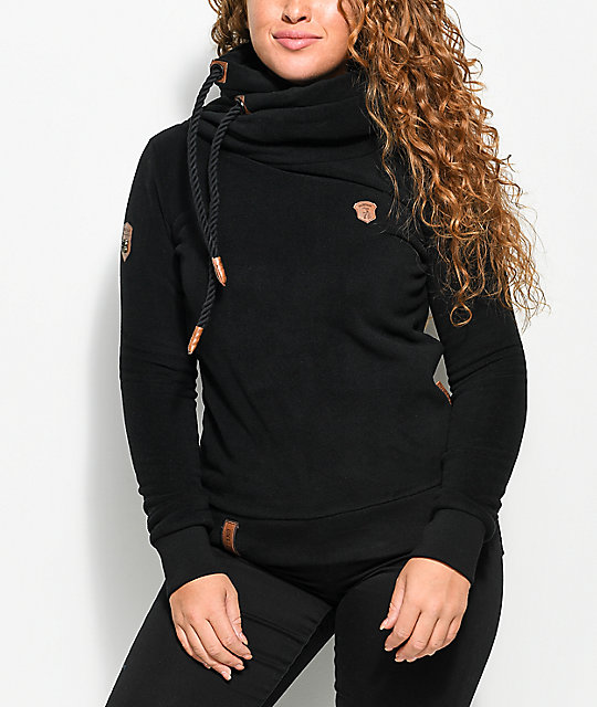 Naketano Glitzermuschi Black Tech Fleece