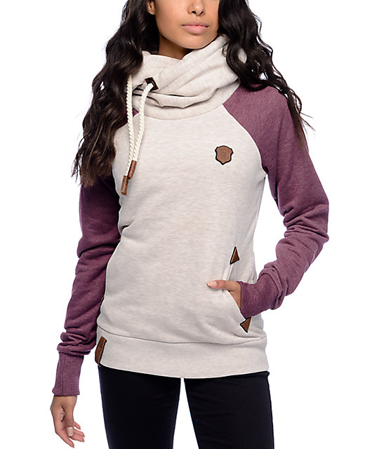naketano so ein otto ii oatmeal bordeaux hoodie zumiez. Black Bedroom Furniture Sets. Home Design Ideas