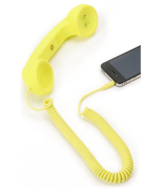 Native Union POP Neon Yellow Retro Phone Handset