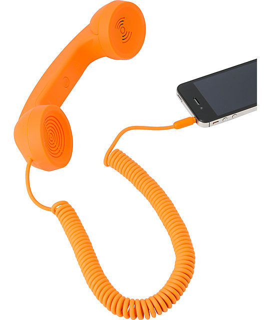 Native Union POP Retro Phone Handset in Orange