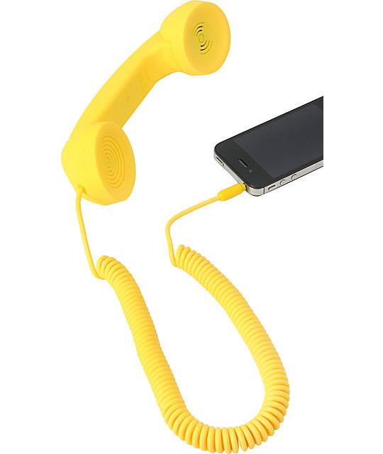 Native Union POP Retro Phone Handset in Yellow