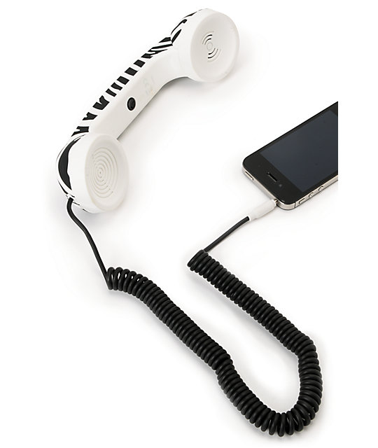 Native Union POP Zebra Print Retro Phone Handset