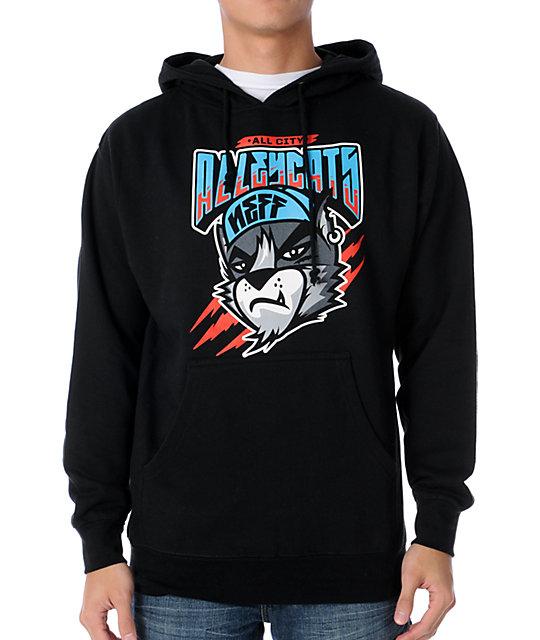 Neff Alleycatz Black Pullover Hoodie