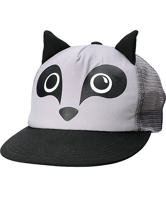Neff Animal Raccoon Grey Hat