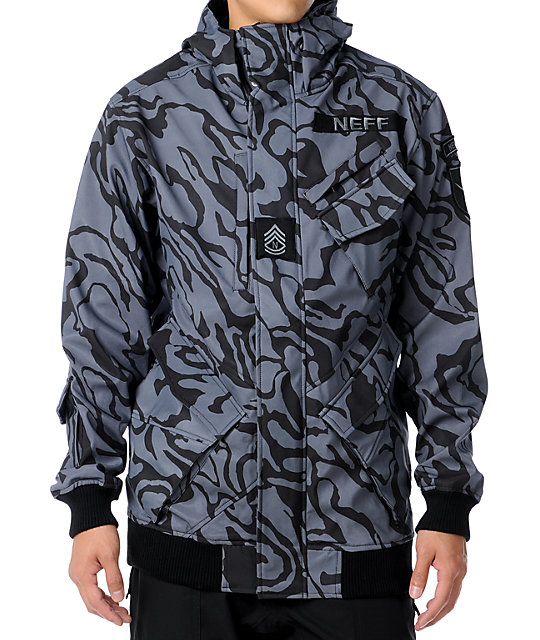 Neff Assault 10K Black Ops Camo Technical Softshell Mens Snowboard Jacket