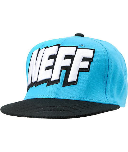 Neff Baboom Cyan & Black Snapback Hat